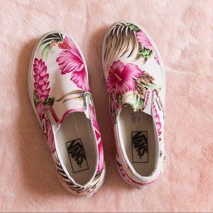 Vans Hawaiian Floral Slip-Ons 🌺🌴